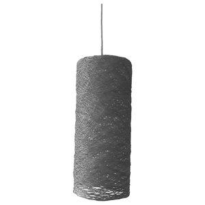 Cylinder Pendant Light, Grey, Small