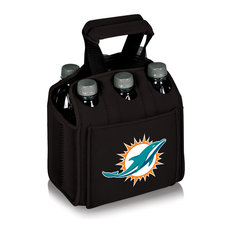 Miami Dolphins Six Pack Beverage Carrier, Black