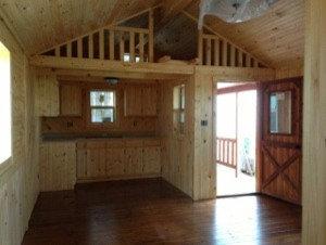 14x32 Elk Cabin With Corner Porch