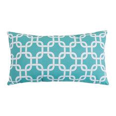 Teal Links Small Pillow