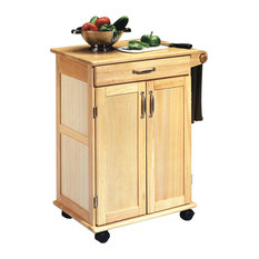 Home Styles Furniture   Natural Wooden Kitchen Cart   Kitchen Islands And  Kitchen Carts