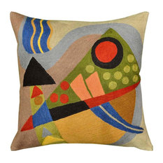 Kandinsky Composition VII Hand-Embroidered Decorative Pillow Cover 18 x 18