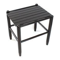 Asheville Wood Side Table No. 1618, Black