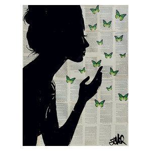 """Simplicity Green"" Printed Canvas by Loui Jover, 80x60 cm"