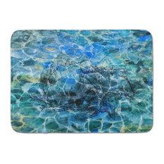 Hermit Crab Under Water Machine Washable Memory Foam Mat