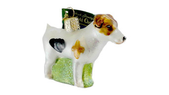Old World Christmas Jack Russell Terrier Glass Ornament