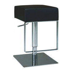 Chintaly Imports Pneumatic Gas Lift Adjustable Height Swivel Stool 0811-AS-BLK