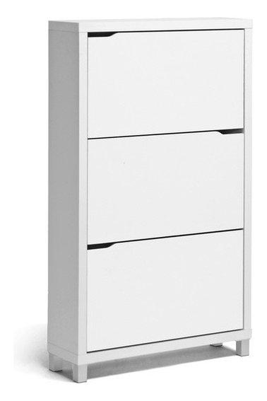 Simms Modern Shoe Cabinet - Modern - Shoe Storage - Other - by Baxton Studio