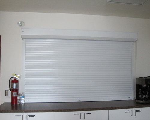 Interior Roll Shutter On Kitchen Service Counter With Manual Tape Coiler  Operati   Products