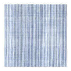 Annie Selke Watercolor Lines French Blue Ceramic Wall and Floor Tile 13 x 13 in.