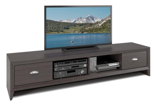 Lakewood Extra Wide Tv Bench Modern Wenge Finish
