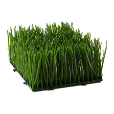 Serene Spaces Living Artificial Green Wheatgrass Mat, 2 Sizes Available, Small