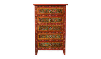 Hand painted wooden furniture