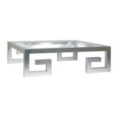 Zegadi Lex Square Gl Coffee Table Chrome Tables