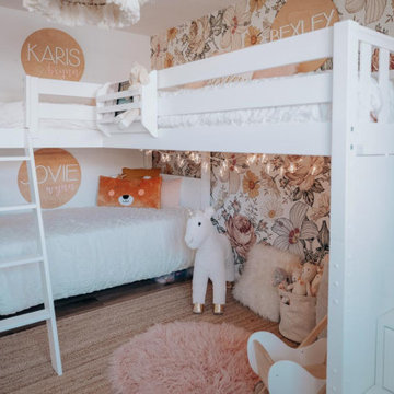 White Twin High Corner Loft Bunk Bed with Ladder and Staircase