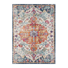 "Bodrum Updated Traditional Saffron 9'3""x12'6"" Rectangle Area Rug"