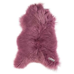 Coloured Icelandic Sheepskin Rug, Dark Pink, 60x110 cm