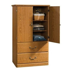 Sauder   Orchard Hills Storage Armoire, Carolina Oak Finish   Armoires And  Wardrobes