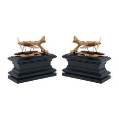Brass Bookend, Eichholtz Hydroplane, Set of 2