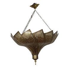 Moroccan Brass Chandelier with an Elegant Design, Medium