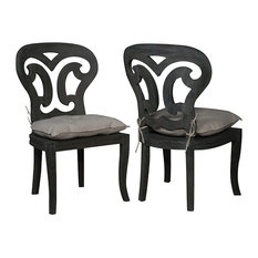 Guildmaster 694524P Artifacts Side Chairs in Weathered Gray, Gray, Set of 2