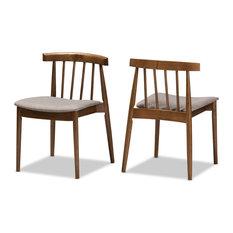 Baxton Studio - Baxton Studio Wyatt Mid-Century Modern Walnut Wood Dining Chair Set  sc 1 st  Houzz & 50 Most Popular Midcentury Modern Windsor Dining Room Chairs for ...