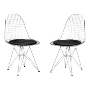 Poly and Bark Hamlet Side Chair, Black, Set of 2