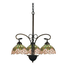"Meyda 24"" Cabbage Rose 3-Light Chandelier"
