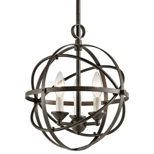 "Miseno MLIT155386 3-Light 12"" Wide Candle Style Cage Chandelier"