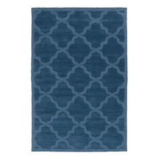 Solid/Striped Area Rug, Union Square Collection, Seaside, 9'x12'