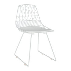 Adore Decor Vivi Metal Dining Side Chair In French White (Set Of 2)