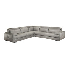 Ju0026M Furniture - Gary Italian Leather Sectional - Sectional Sofas  sc 1 st  Houzz : sectional sofa clearance - Sectionals, Sofas & Couches