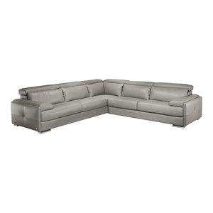 Koko Leather Sofa Transitional Sofas By Lexington