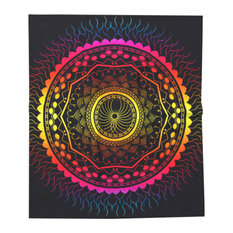 Psychedelic Mandala Throw Blanket, Twin