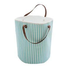 Canvas Storage Basket, Stripes