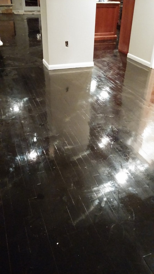 Ebony Hardwood Floor Shiny To Matte