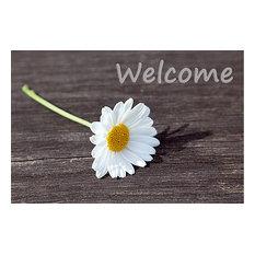 """""""Welcome"""" Daisy Gallery Door Mat, Large"""