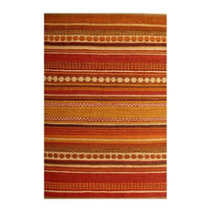 Sai Resources Llc Handwoven Jute Rug Brick Red And Yellow 4 X6