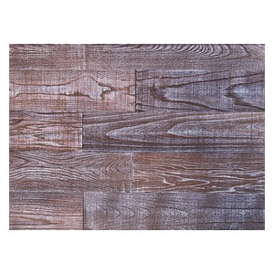 "5""x2' Smart Paneling 3D Art Barn Wood Wall Planks DIY, Set of 12, 10 SF"