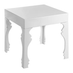 Premier Housewares   Luis Side Table, White High Gloss   Side Tables And  End Tables