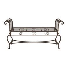 Safavieh Brielle Outdoor Bench, Rustic Brown