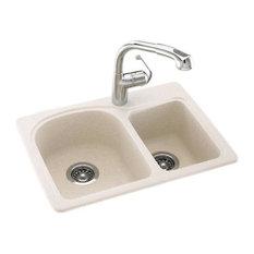 Solid-Surface-Kitchen-Sinks. Swanstone Swanstone Dual Mount Double Bowl Kitchen Sink Kitchen Sinks