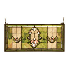 Meyda Tiffany 98463 Stained Glass Tiffany Window Arts & Crafts Collecti