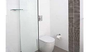Fixed panel shower screen