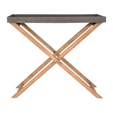 Hampton Stone and Wood Console Table