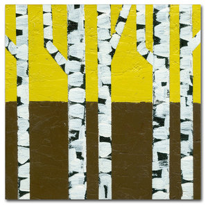 Michelle Calkins Seasonal Birches Winter Canvas Art Traditional Prints And Posters By Trademark Global
