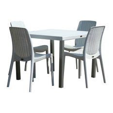 Oslo 4-Person Table With Rue Chairs, White