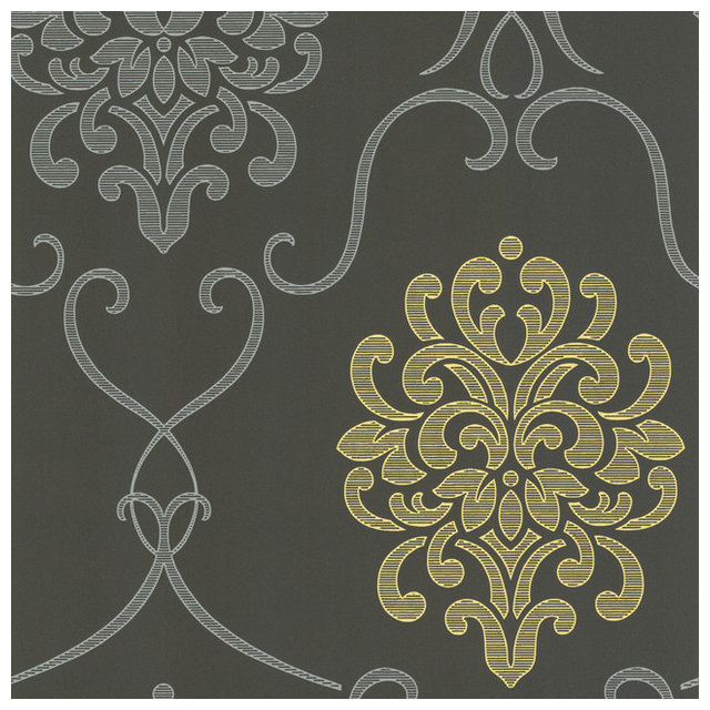 Dl Accent Damask Wallpaper