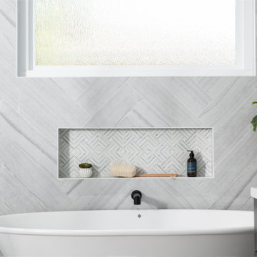Ladera Ranch Remodel with Herringbone Wall Tile