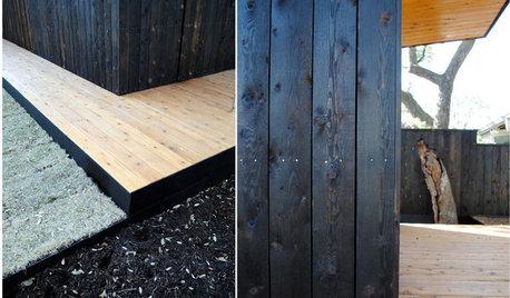 「焼杉」でつくる、黒くモダンな板張りの家